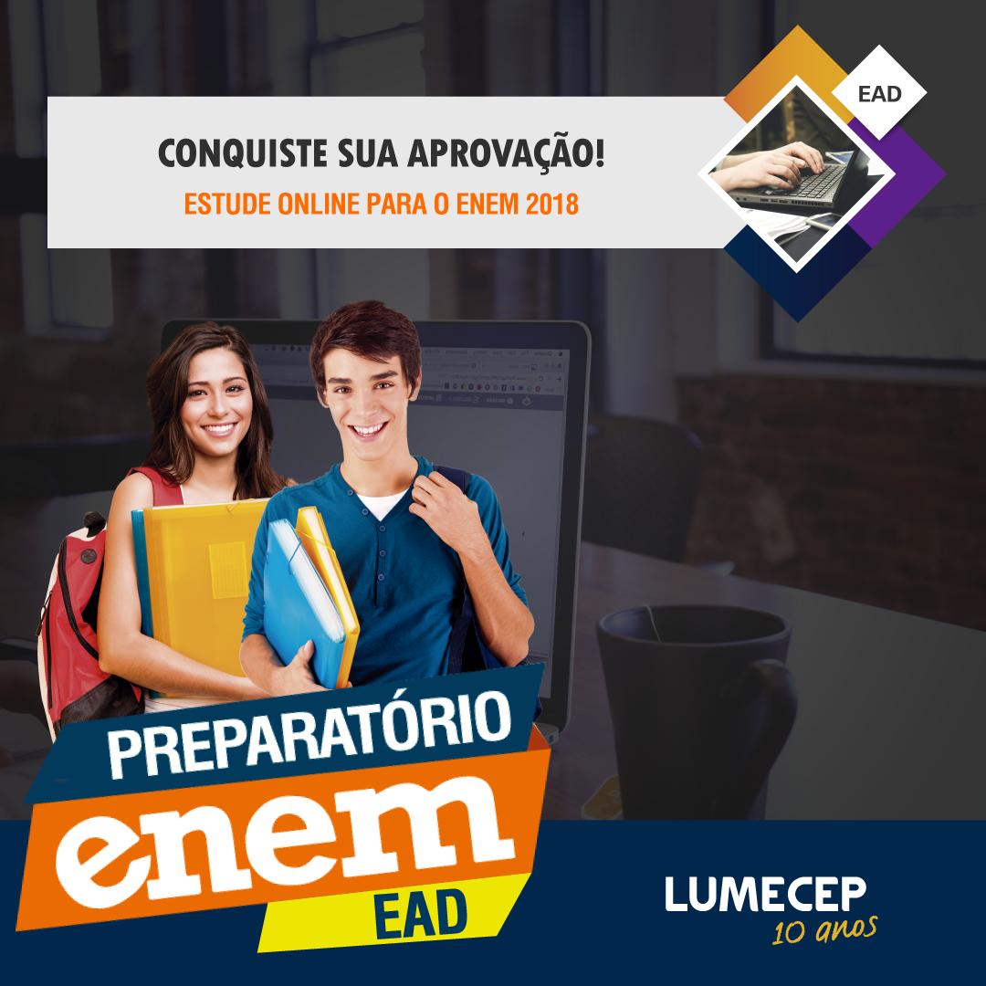 LUMECEP DISPONIBILIZA CURSO PREPARATÓRIO ENEM EAD